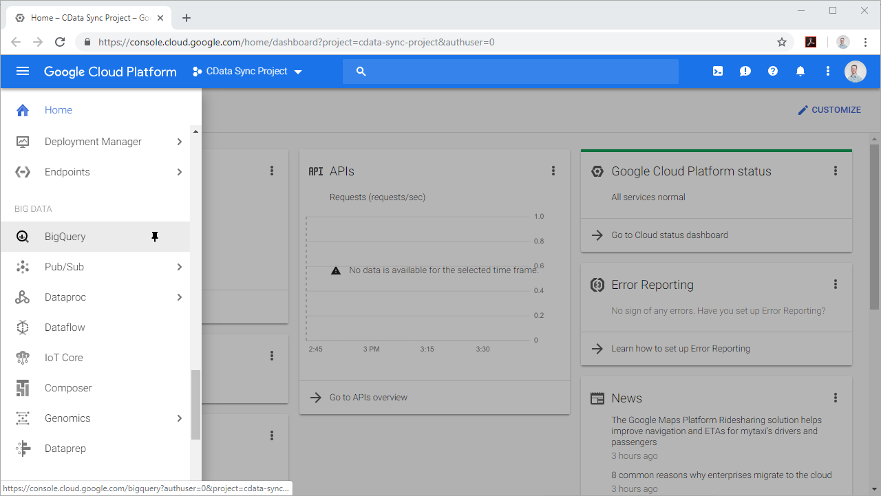 Data Warehousing with Google BigQuery and CData Sync ...