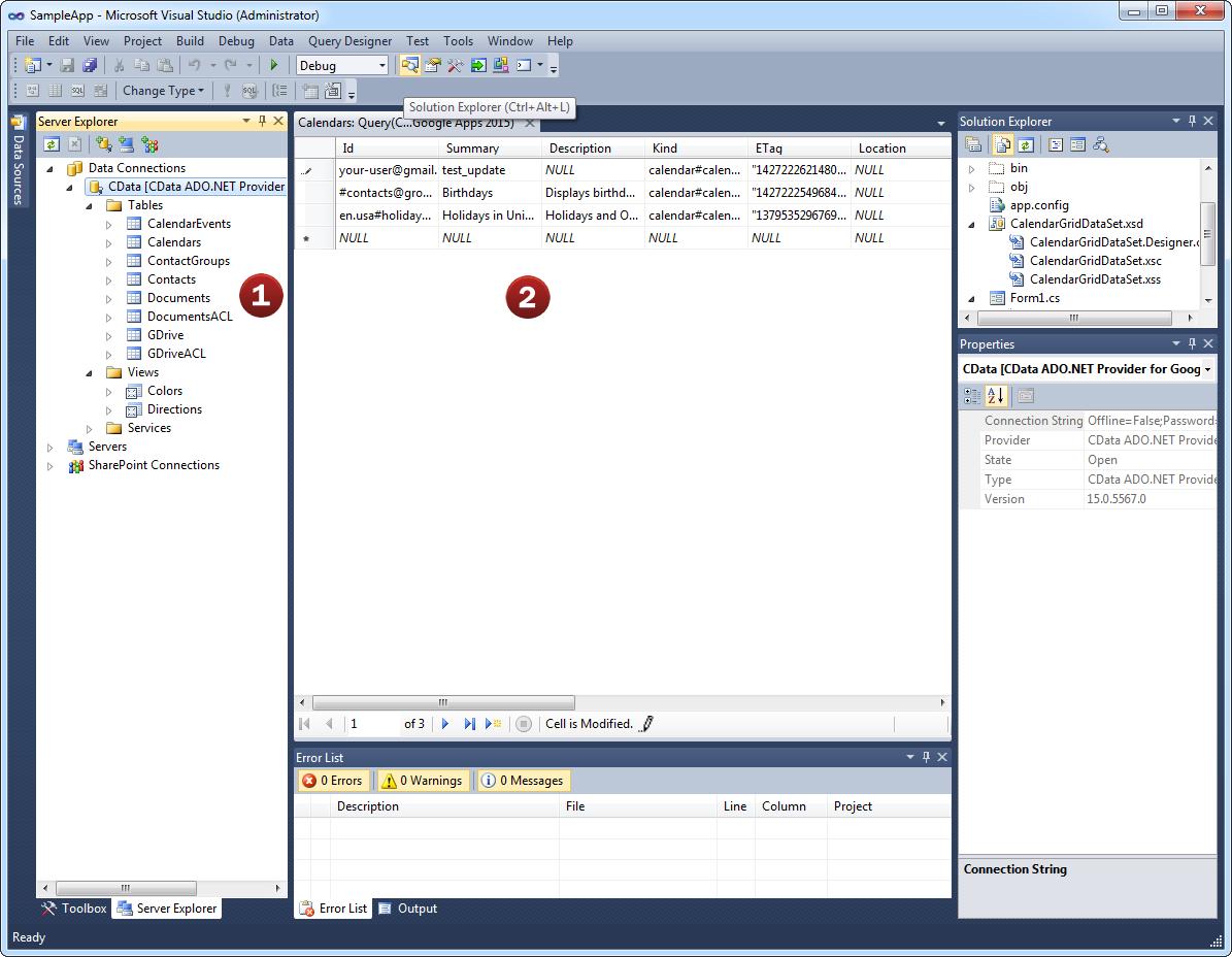 CData ADO NET Provider for SAP ERP