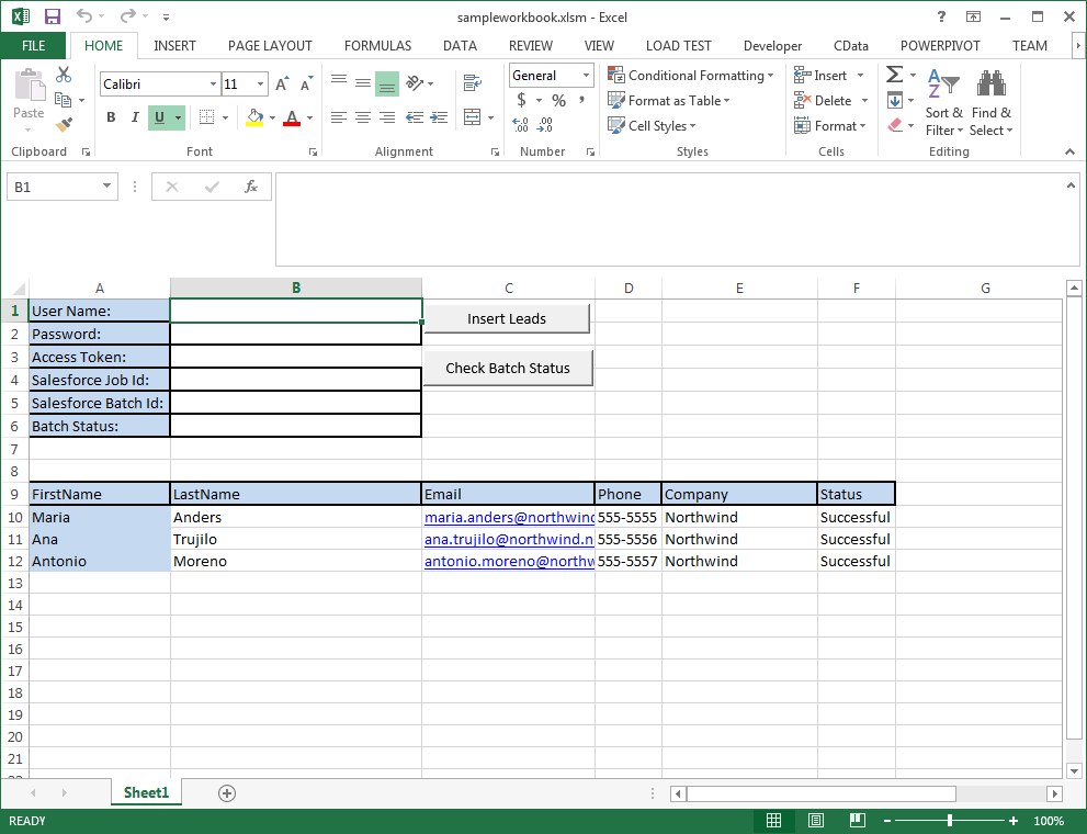 Access Salesforce From Excel Macros (VBA)