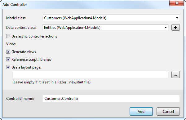 Build MVC Applications with Connectivity to Dynamics NAV Data