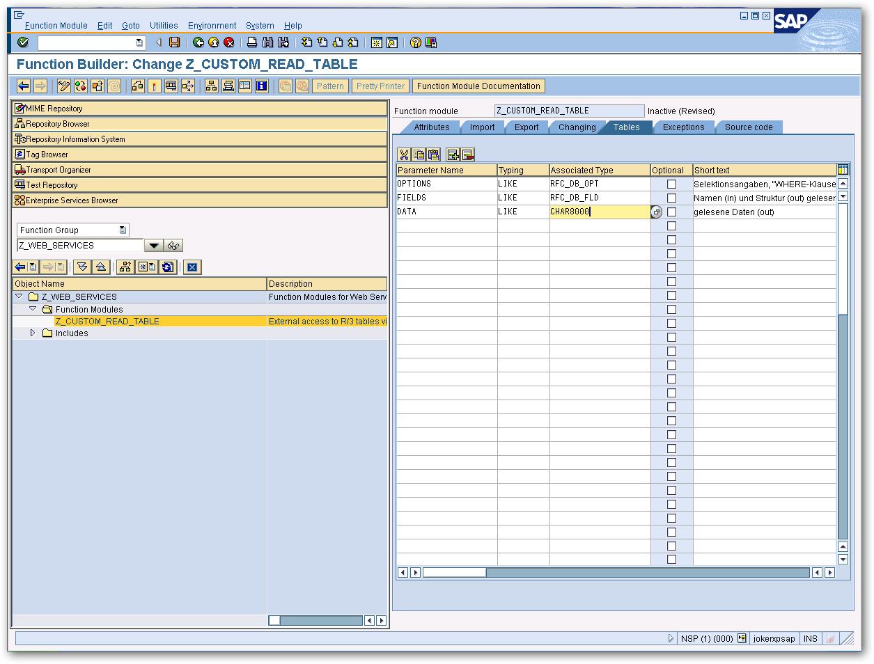 Design a Custom SAP Function Module to Circumvent RFC_READ_TABLE