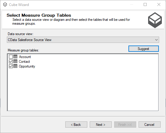 Build an OLAP Cube in SSAS from Athena Data