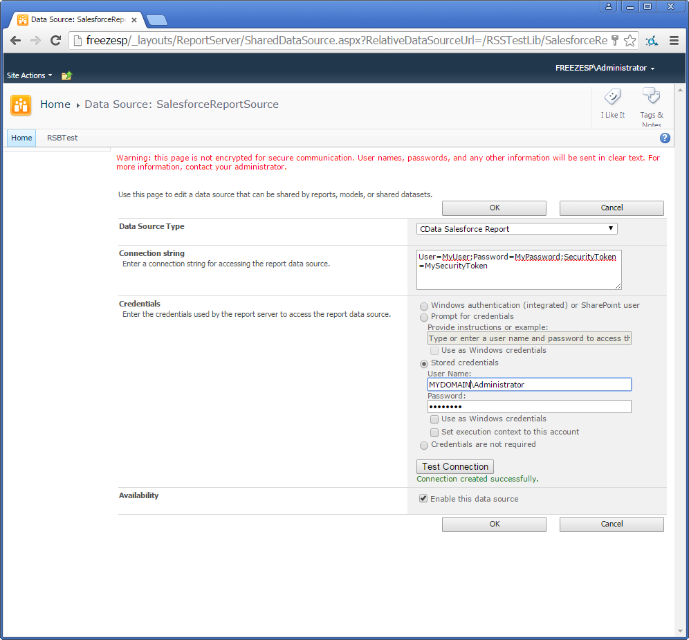 Deploy the ADO NET Provider for Smartsheet on an SSRS Report