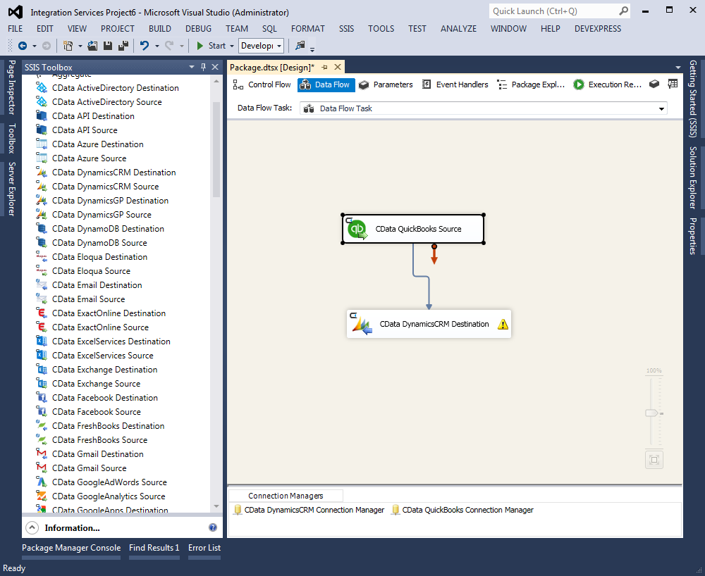 Create CRM Accounts from QuickBooks Customers