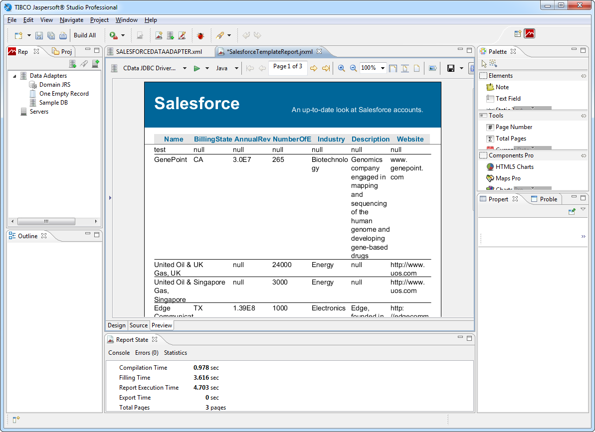 Connect to MySQL Data in Jaspersoft Studio