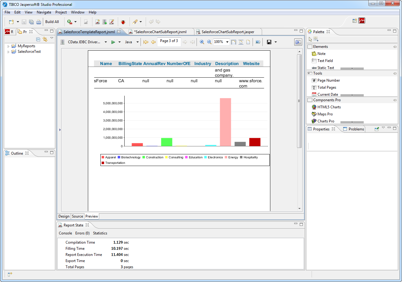 Connect to CSV Data in Jaspersoft Studio