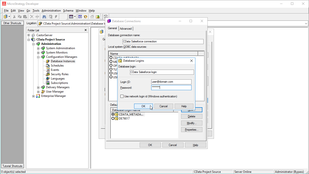 Use the CData JDBC Driver for XML in MicroStrategy