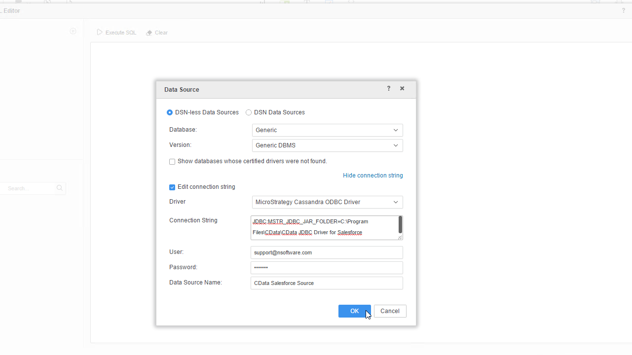 Use the CData JDBC Driver for HPCC Systems in MicroStrategy
