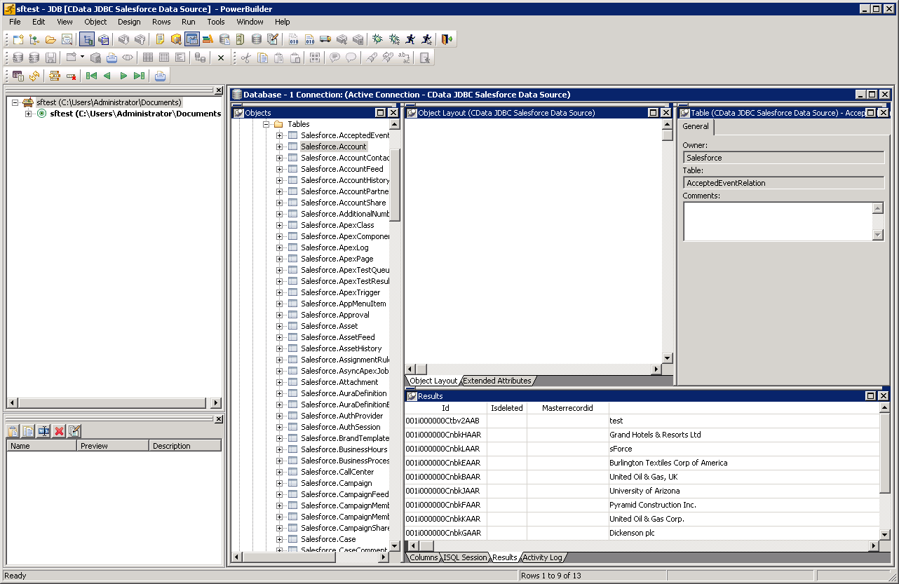 Connect to Teradata Data from PowerBuilder