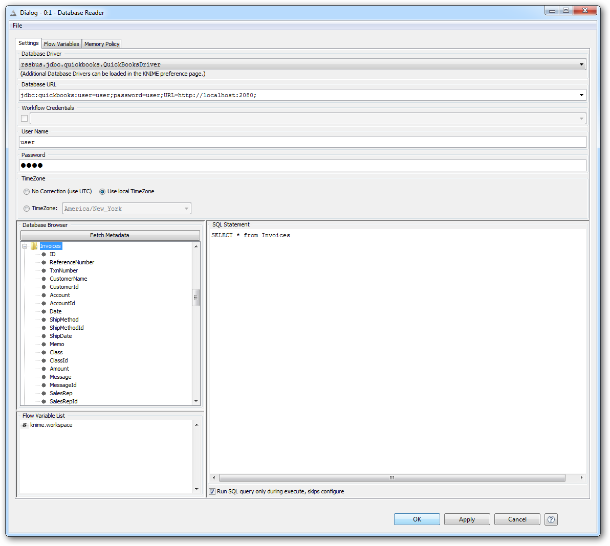 Enable the BigQuery JDBC Driver in KNIME