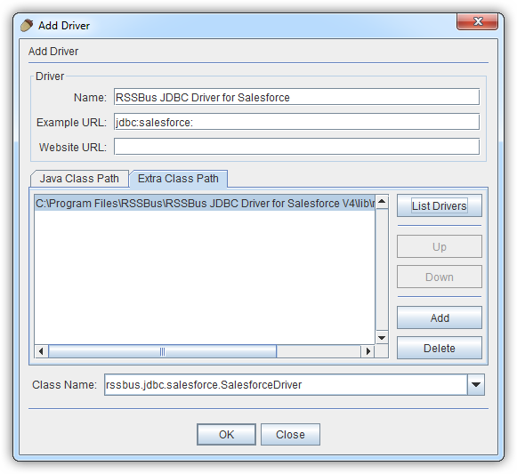 Connect to SAP Data in Squirrel SQL Client