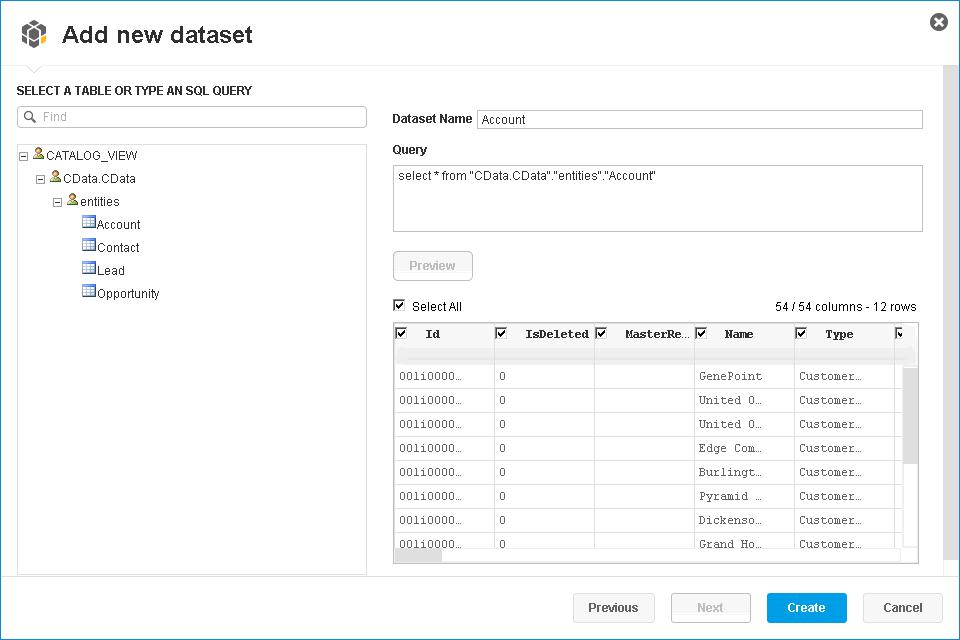 Consume Azure Table OData Feeds in SAP Lumira