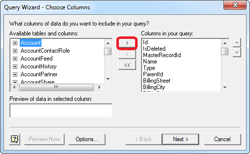 Using Microsoft Query in Excel to Connect to QuickBooks Online