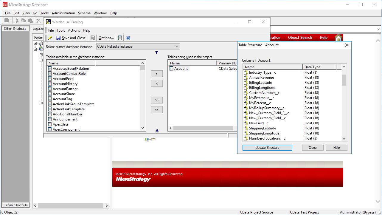 Use the CData ODBC Driver for ServiceNow in MicroStrategy