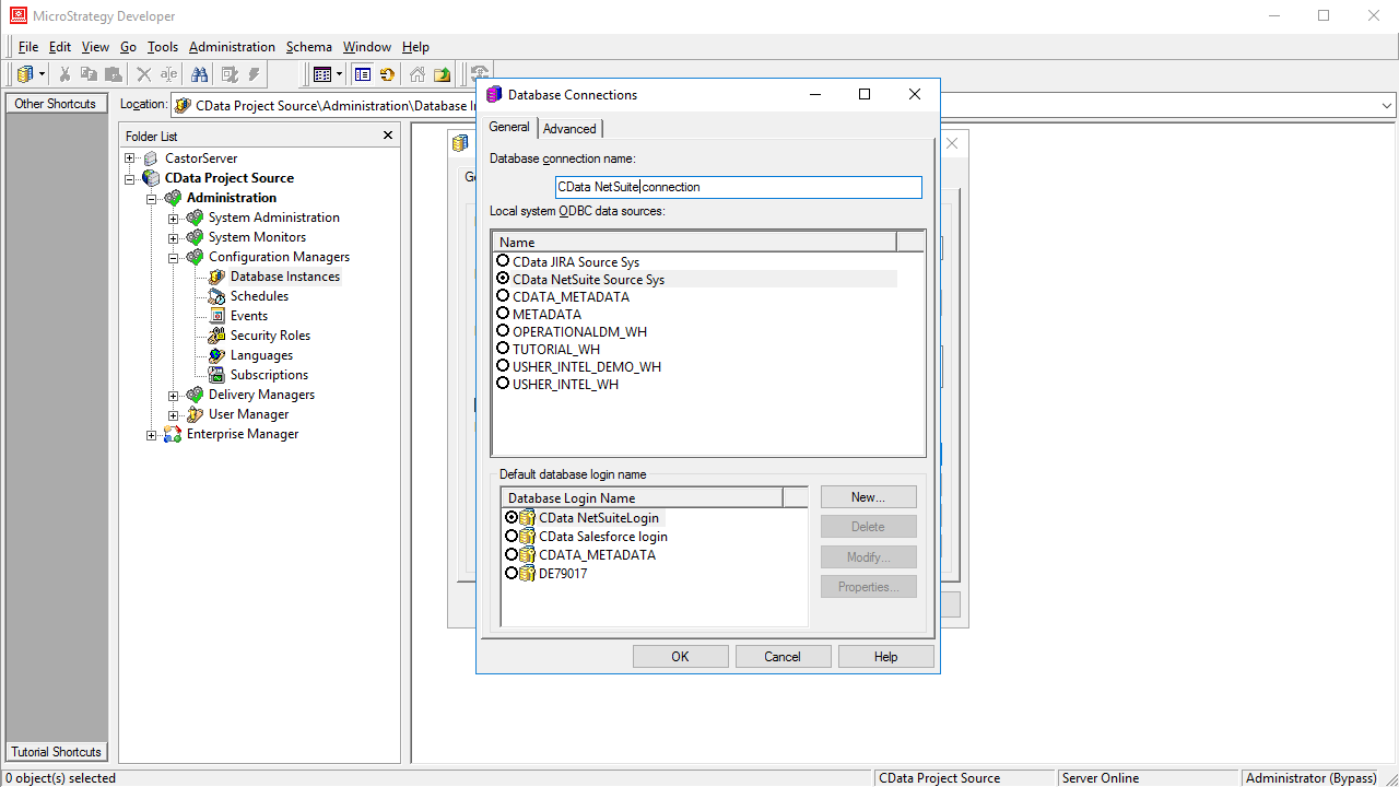 Use the CData ODBC Driver for RSS in MicroStrategy