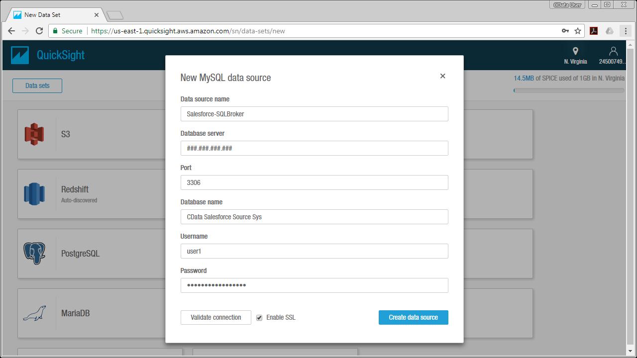 Access Amazon DynamoDB Data from MySQL in Amazon QuickSight