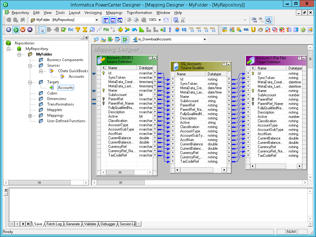 Extract, Transform, and Load Excel Online Data in Informatica