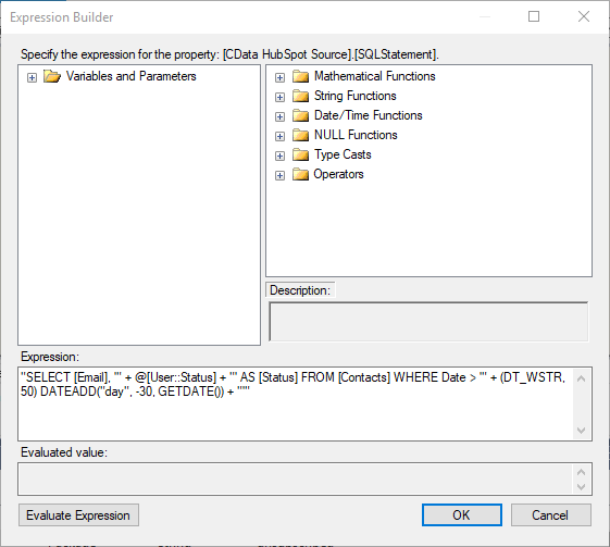 Use SQL Server Integration Services to Add HubSpot Contacts