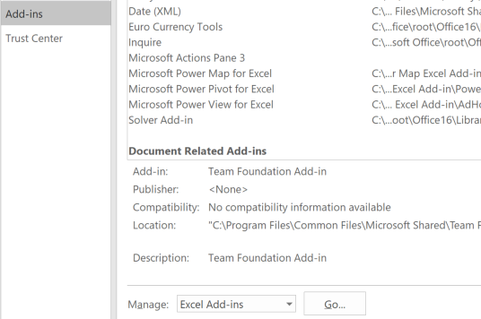 Install a Microsoft Excel Add-In Manually